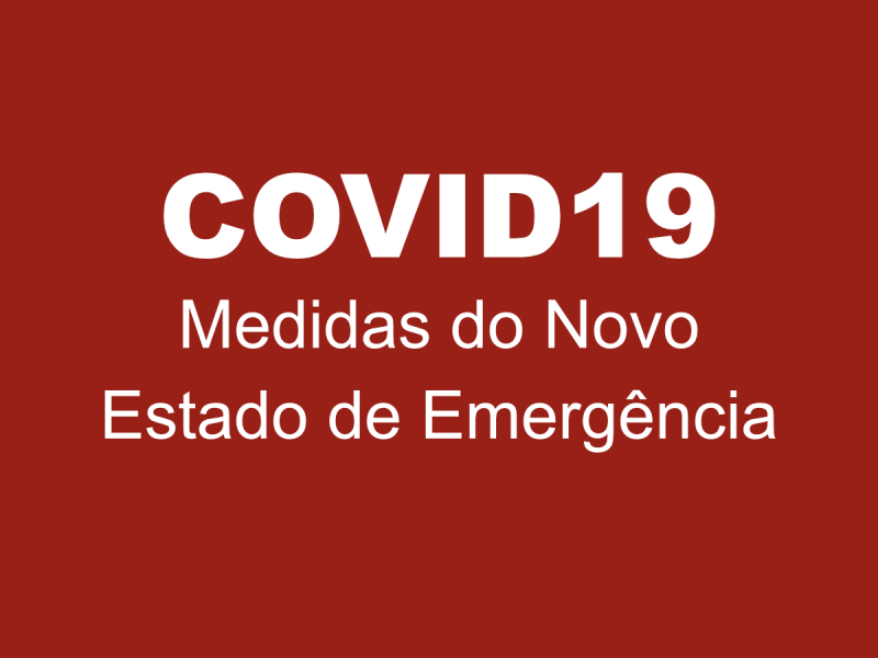 Medidas do Novo Estado de Emergência
