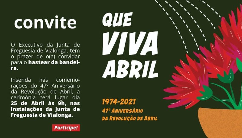 25 de Abril  –  Hastear da bandeira